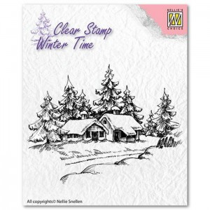 WINTERY HOUSE – stempel Nellie's Choice