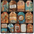 Papier Ciao Bella Collateral Rust RUSTED TAGS