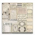 Papier Patchwork Etykiety 30x30cm Calligraphy - awers