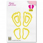 Wykrojnik Nellie's Choice 3 x Baby Feet
