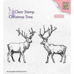 Stempel Nellie's Choice Two Reindeer