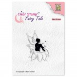 Stempel Nellie's Choice Elf Sitting on Flower