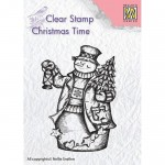 Stempel Nellie's Choice SNOWMAN WITH LANTERN