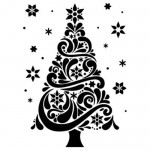 Folder do embossingu Darice Geo Christmas Tree