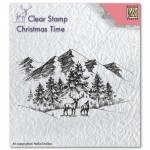 Stempel Niellie's Choice WINTER LANDSCAPE WITH DEER