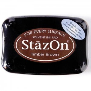 Tusz do stempli StazOn TIMBER BROWN