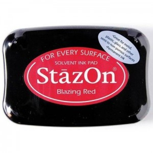 Tusz do stempli StazOn BLAZING RED