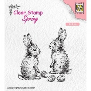Stempel Nellie's Choice TWO HARES