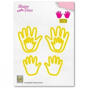 Wykrojnik Nellie's Choice 3 x Baby Hands
