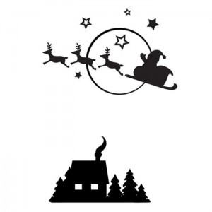 Folder do embossingu Darice Santa Flying Sleigh