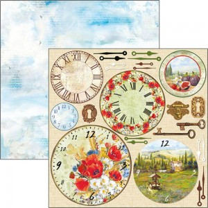 "Papier Under The Tuscan Sun 12x12"" Clock"