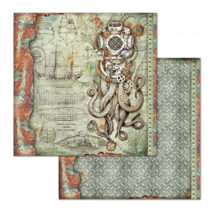 Papier do scrapbookingu Stamperia Sea World Ośmiornica 30,5x30,5cm