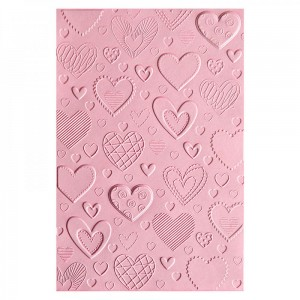 Folder do embossingu 3D Textured Impressions Hearts