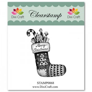 Stemple clearstamp Dixi Craft CHRISTMAS STOCKING