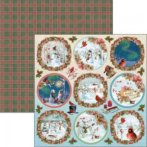 Papier Ciao Bella 30x30cm Northern Lights Medallions