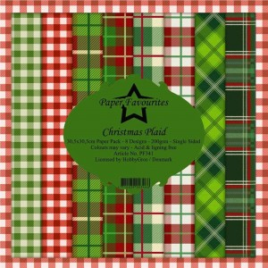 Papiery 30x30cm Dixi Craft Christmas Plaid