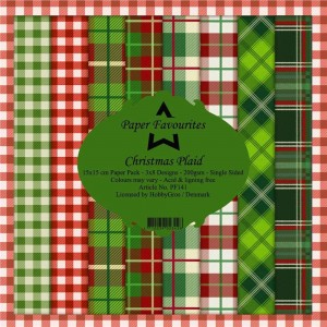 Papiery 15x15cm Dixi Craft Christmas Plaid