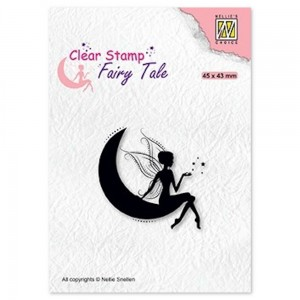 Stempel Nellie's Choice Elf on Moon