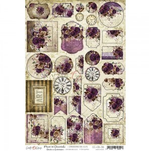 Tekturki Cardboard Die-Cuts Plum in Chocolate - Craft O'Clock