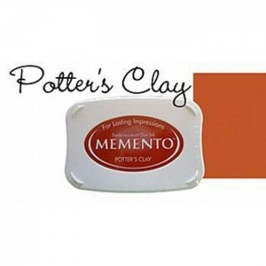 Tusz do stempli Ceglany Memento Potter's Clay