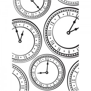 Folder do embossingu Clock Background