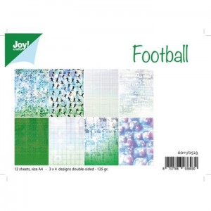 FOOTBALL Papier A4 Joy Crafts 12 arkuszy