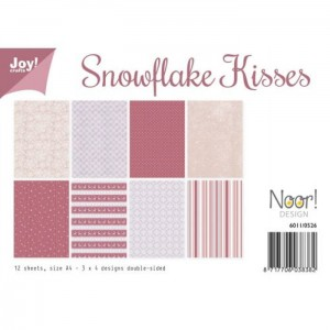 SNOWFLAKE KISSES Papier A4 Joy Crafts 12 arkuszy