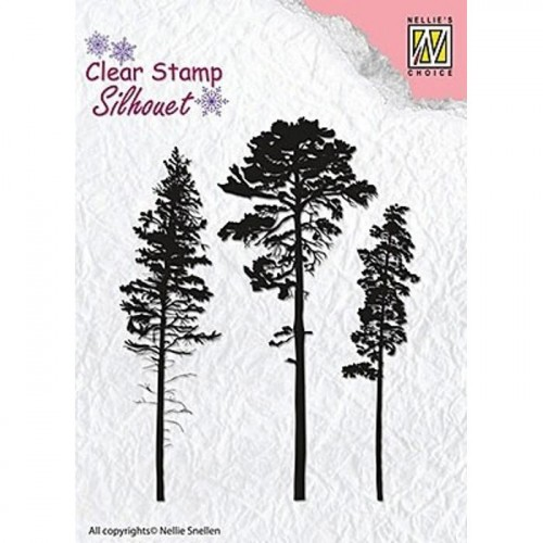 Stempel Nellie's Choice 3 PINETREES