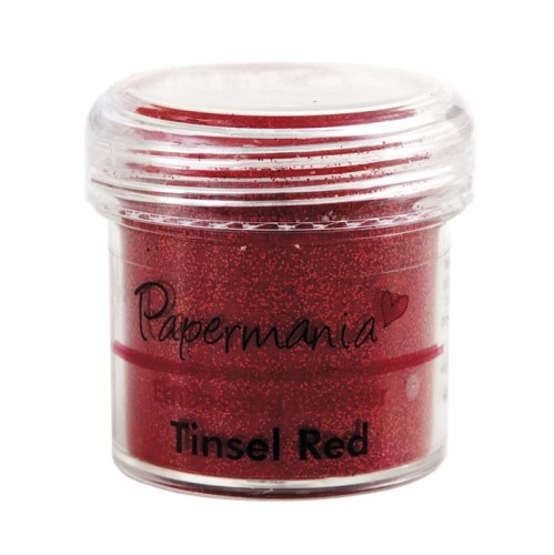 Puder do embossingu Papermania TINSEL RED