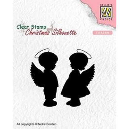 Stempel Nellie's Choice Angel Girl And Boy