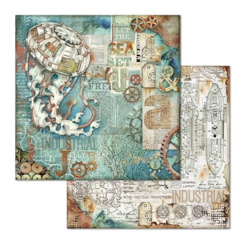 Papier do scrapbookingu Stamperia Sea World Meduza 30,5x30,5cm