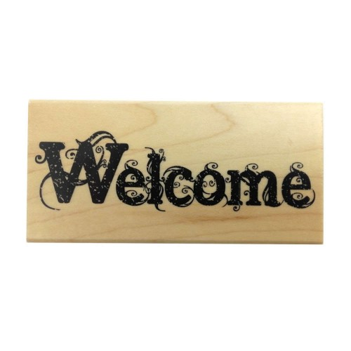 Stempel gumowy Stamperia Welcome 10x5cm