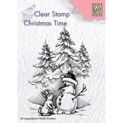 Stempel Nellie's Choice SNOWMAN AND RABBIT